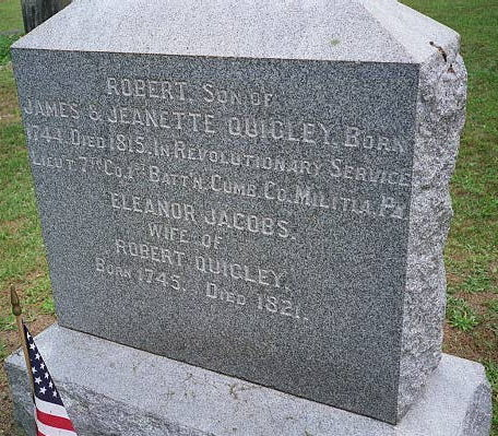 Headstone of Robert Quigley