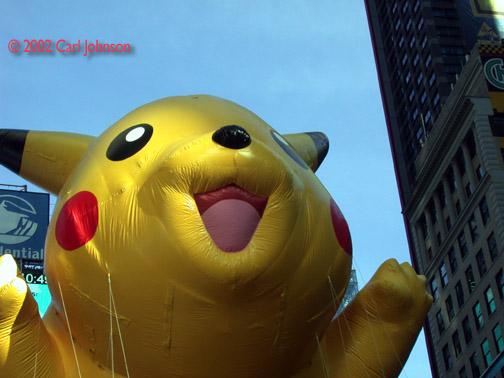 Pikachu Eats Times Square!