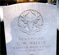 Walker gravestone
