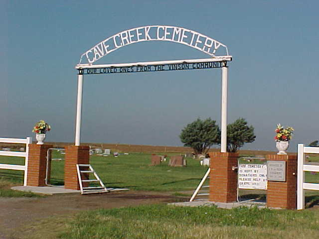 Cave Creek Cemetery gate