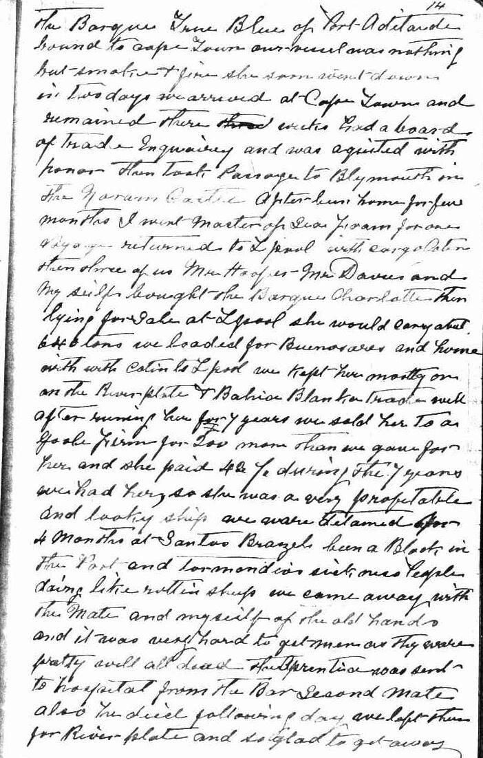 Original page from diary
