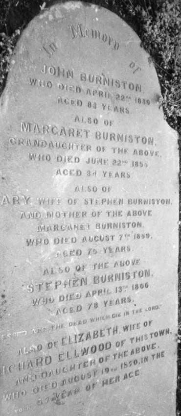 Picture of Burniston Headstone