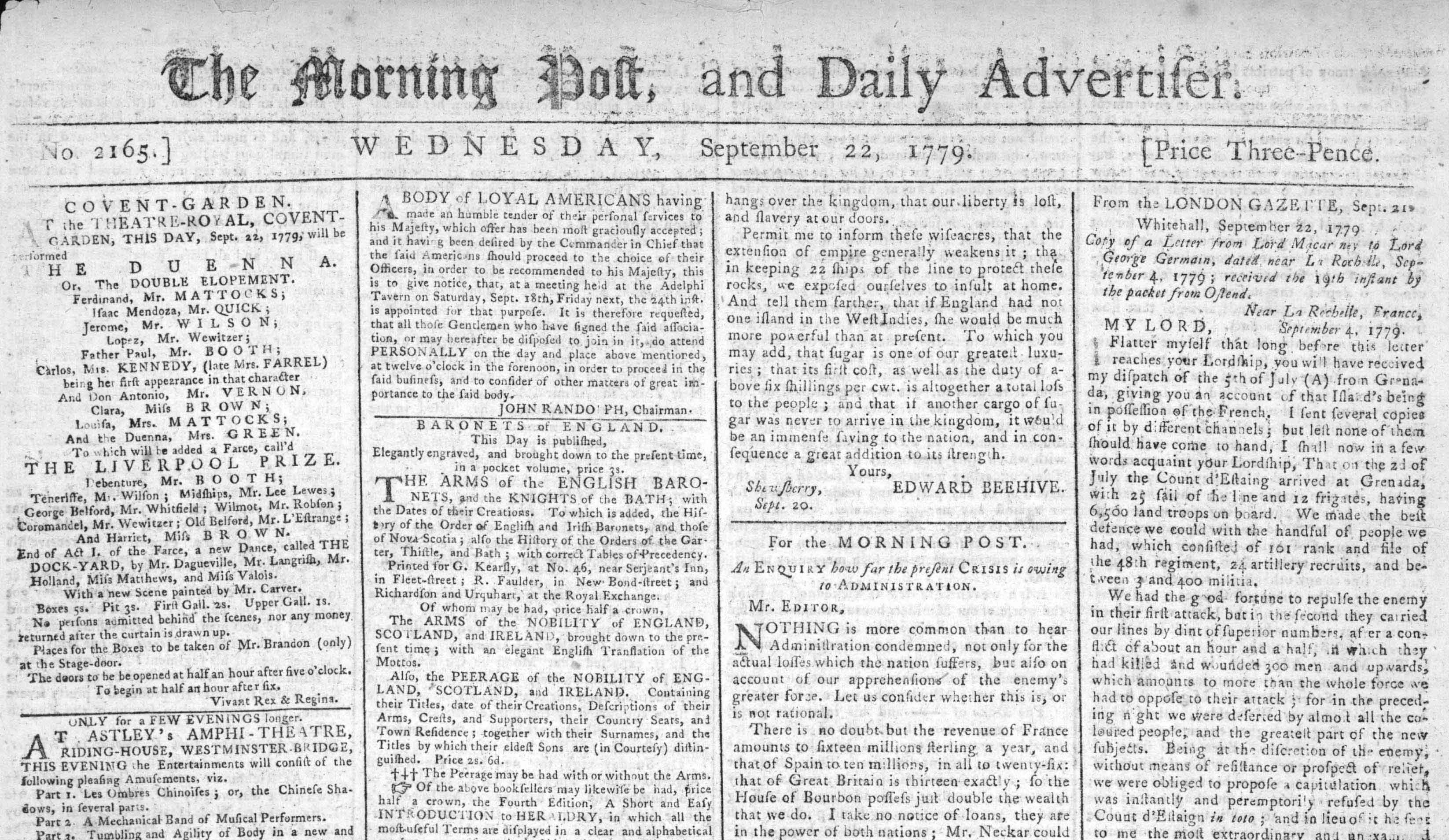 Morning Post 1779