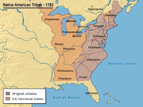 1783 Indian Tribes Territory