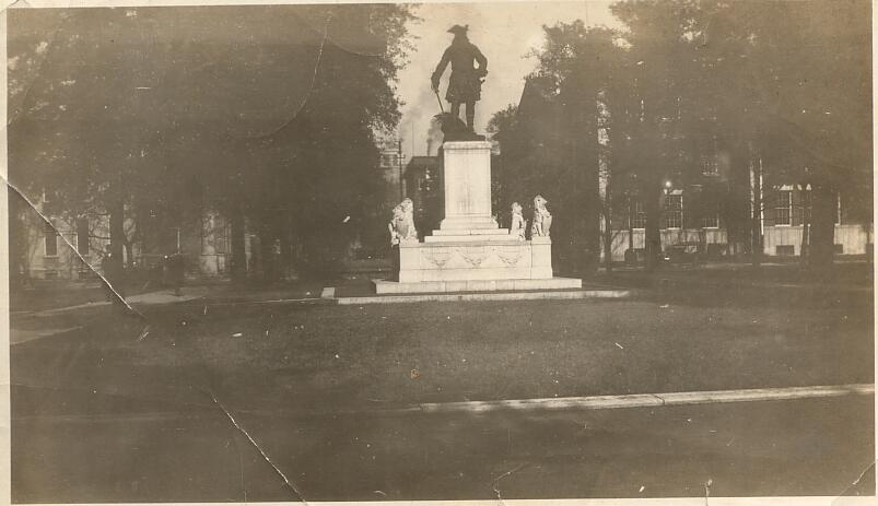 Statue of General Ogelthorp, Savannah Georgia, Taken in 1921 by J.E. Connett