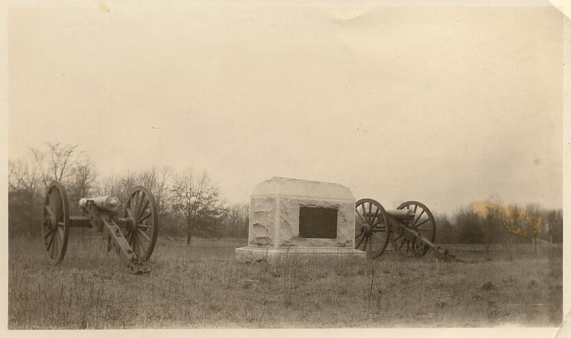 Indiana Battery Battlefield of Shiloh Taken Feb 15th '28