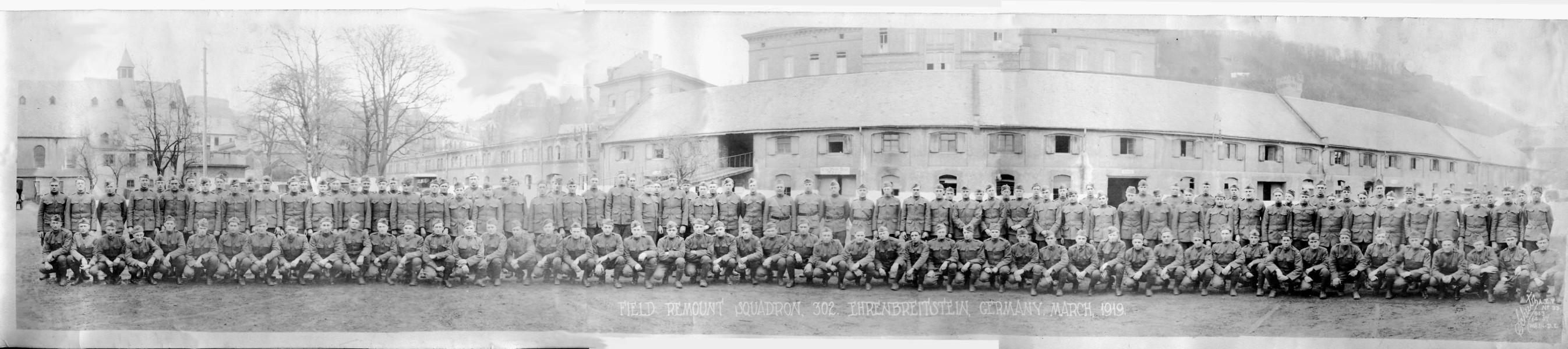 Remount Squadron No 302 in WW 1