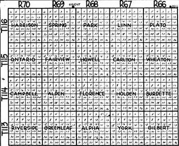south dakota township map Hand County South Dakota Township Map south dakota township map