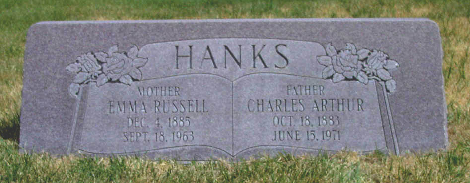 [ Grave of Charles Arthur Hanks ]