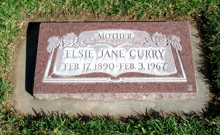 [ Grave of Elsie Jane Hanks  ]