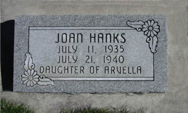 [ Grave of Joan Lula Hanks ]