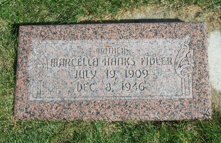 [ Grave of Marcella Hanks  ]
