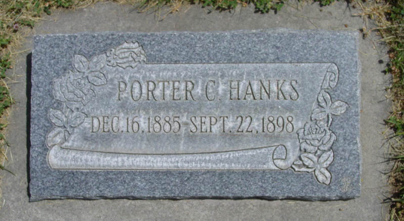 [ Grave of Porter C. Hanks ]