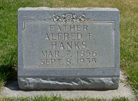 [ Grave of Alfred Fredrick Hanks ]