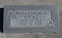[ Grave of Arvella Rachel Sutton Hanks ]