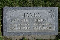 [ Grave of Clyde Frank Hanks ]