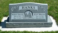 [ Grave of Earl Wayne Hanks and Mabel Smith ]