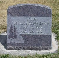 [ Grave of George Marion Hanks ]