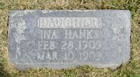 [ Grave of Ina Hanks ]
