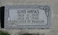 [ Grave of Joan Hanks ]