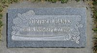 [ Grave of Porter Callister Hanks ]