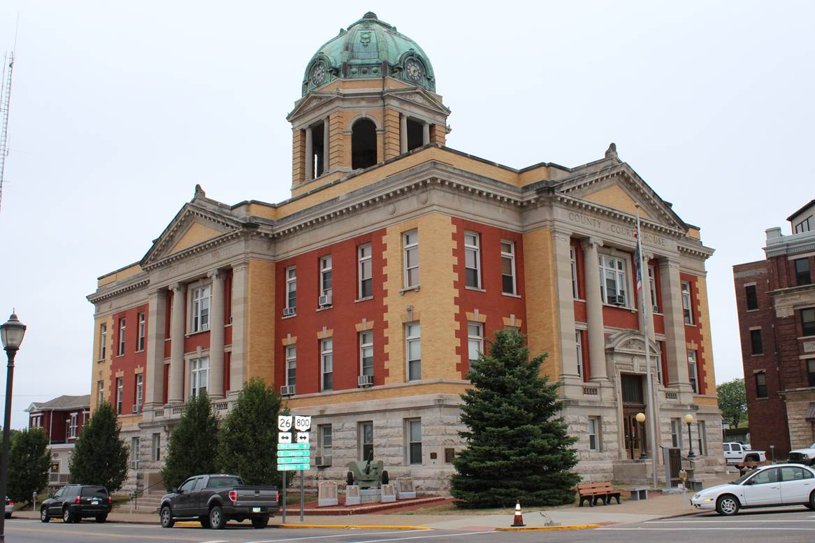 Monroe County Courthouse located in Woodsfield, Ohio