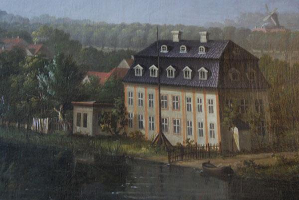 Udsnit af maleri af IC Dahl, Frederiksborg slot