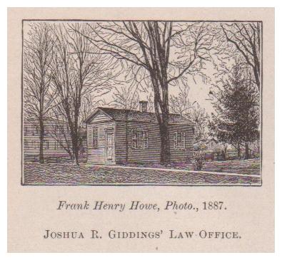 Frank Henry Howe, Photo, 1887 Joshua R. Giddings' Law Office.