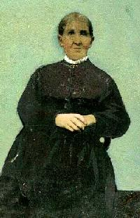 Handpainted tintype of Margaret Campbell