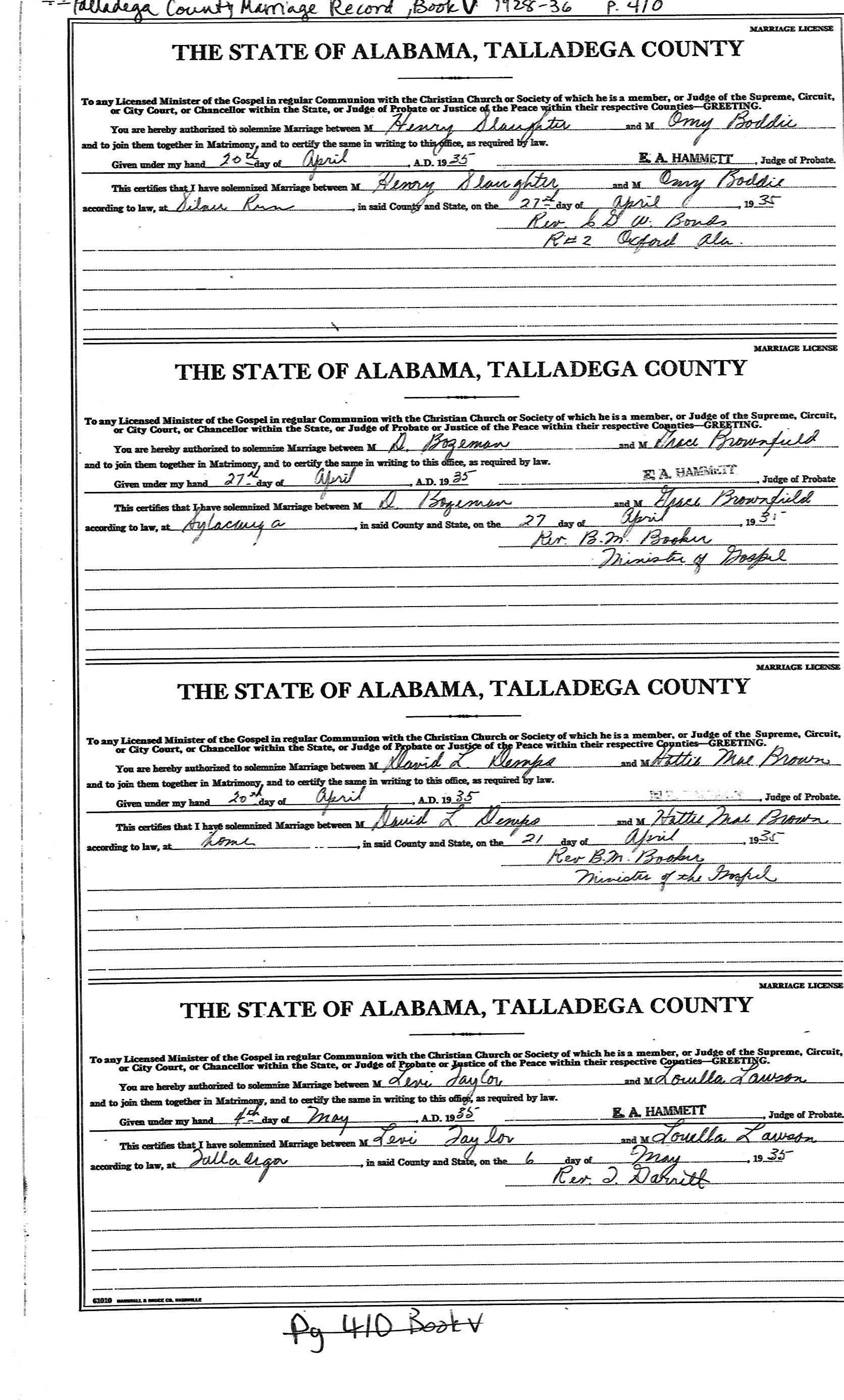 African-American Marriage Records