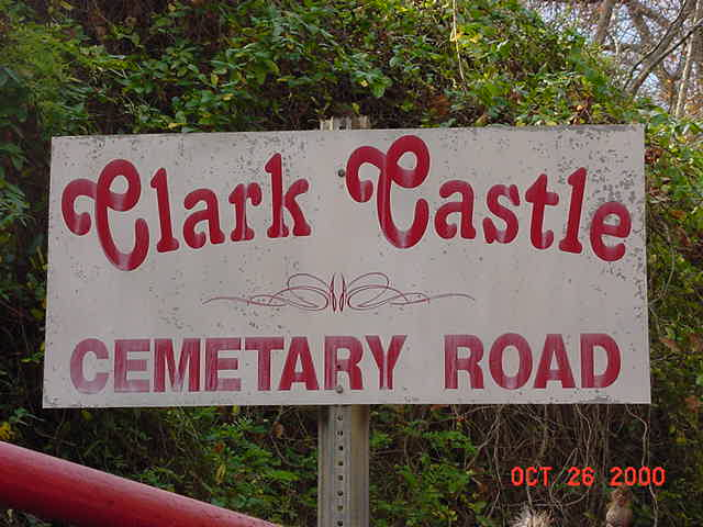 CLARK CASTLE CEM ROAD SIGN