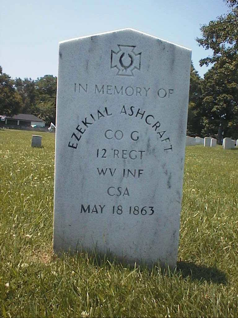 A photo of Ashcraft's headstone from John Berry's Graveyard's and Gravestones website... I site that I highly recommend