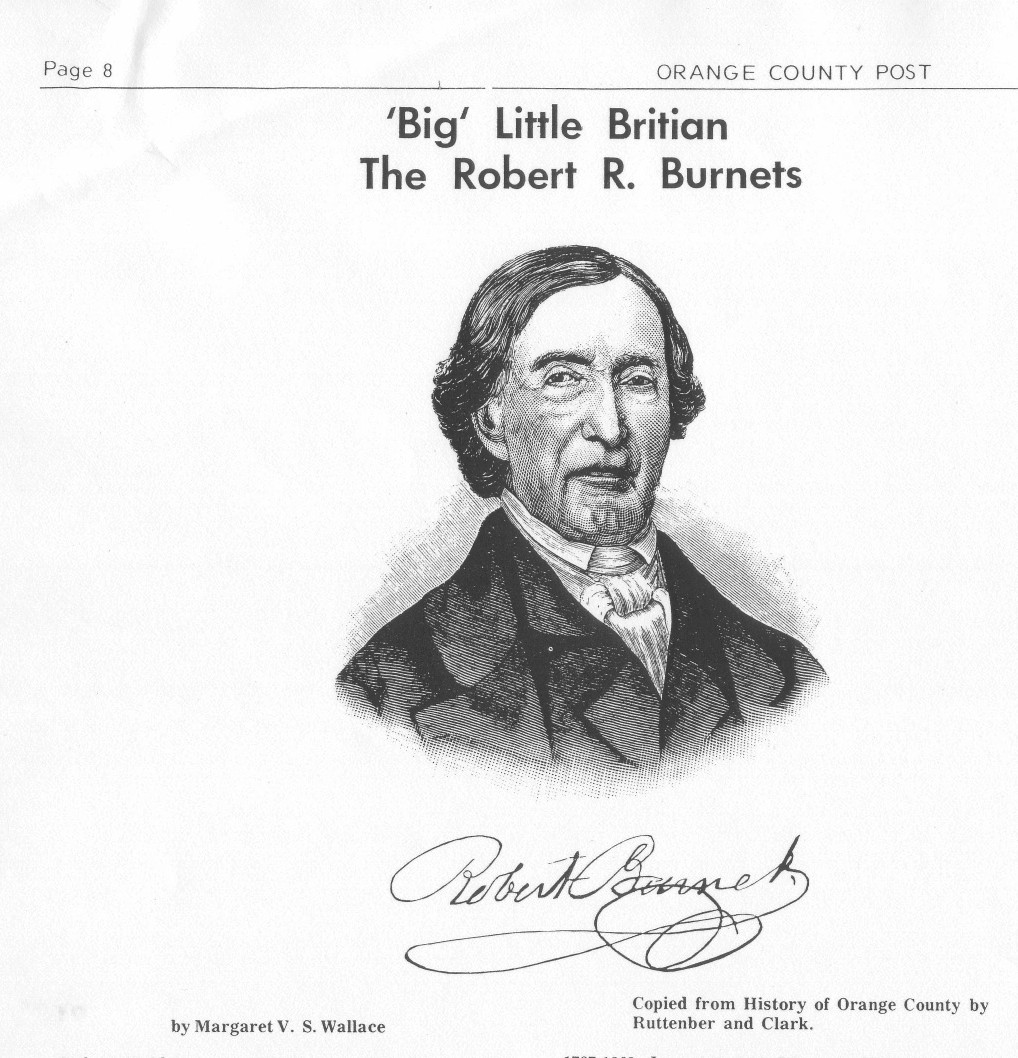 Robert Reid Burnet 1762 1854 was the oldest son of James and