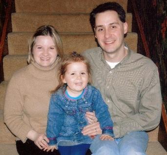 Dennis, Trudy & Grace Lohr, November 2004