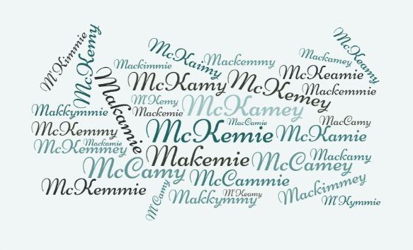 McK/McC Wordcloud