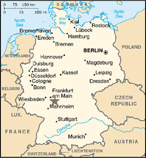 Muehlfeld Family GenealogyGermany Maps - Germany map simple