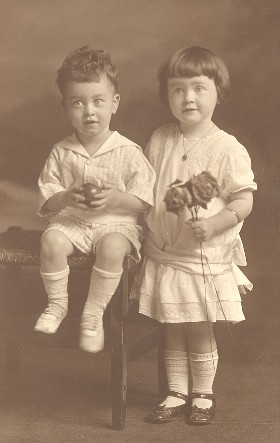 Maurice, Jr. and sister Mary Donegan