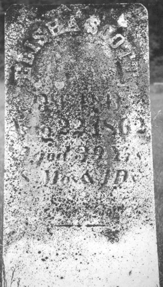 Elisha Scott's Tombstone