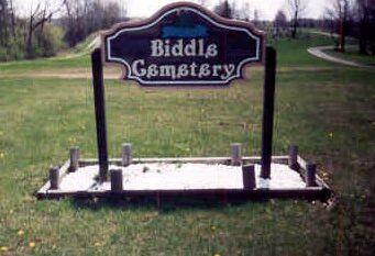Biddle Cole Swisher Cemetery Sandusky Twp Crawford County Oh