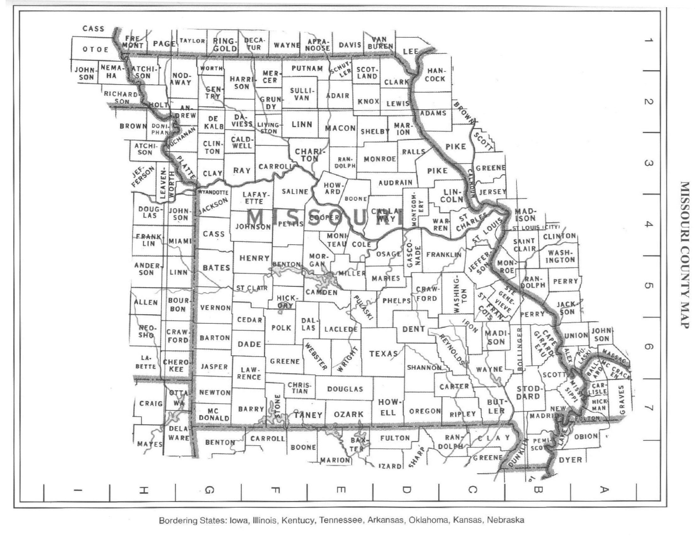 Missouricountymapjpg - County maps of missouri