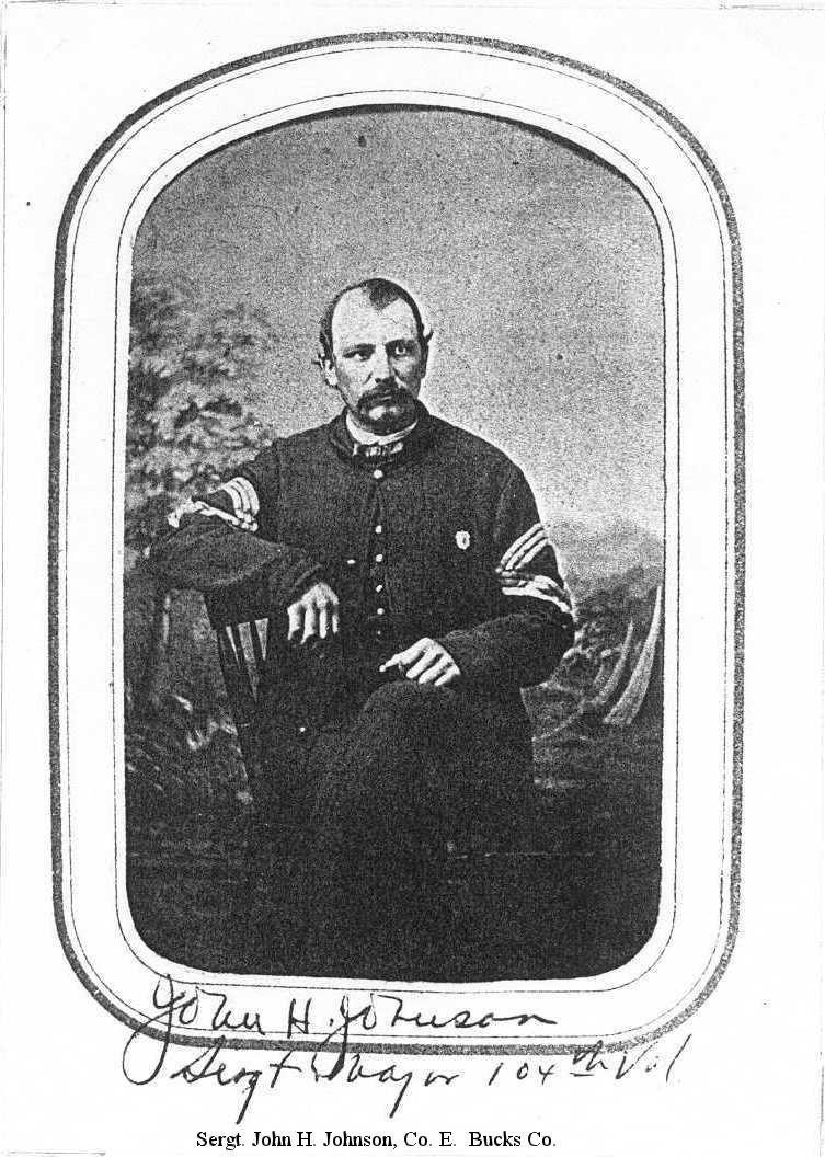 Sergt. John H. Johnson, Co. E.  Bucks Co.