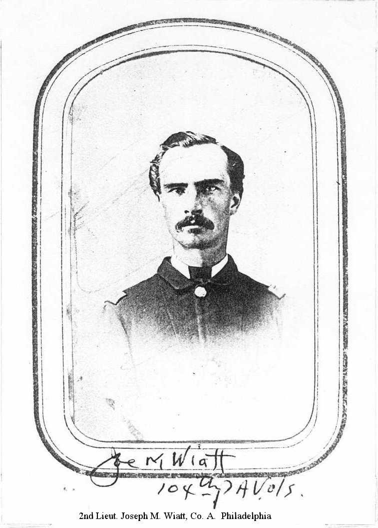 2nd Lieut. Joseph M. Wiatt, Co. A.  Philadelphia