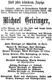 1902 - Michael Geiringer - obituary
