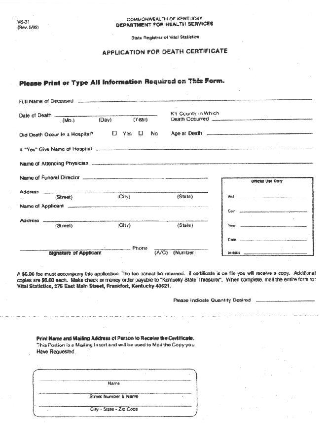 Deacertg death certificate application yadclub Images