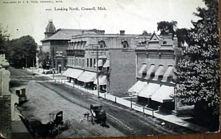 North Howard Avenue Business District Looking North Croswell, Michigan