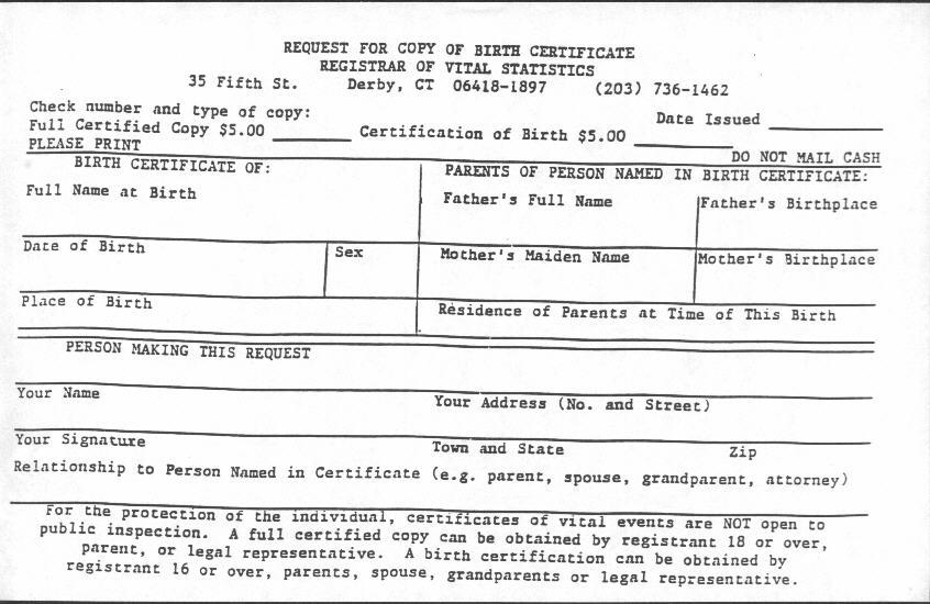 Birth Certificate Connecticut - justsingit.com