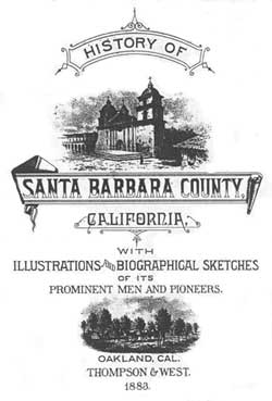 History of Santa Barbara County California 1927