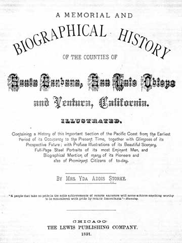 History of Santa Barbara, San Luis Obispo and Ventura, California, 1891