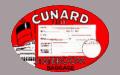 Cunard baggage tag
