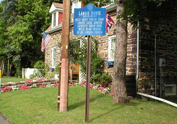 Landis House sign
